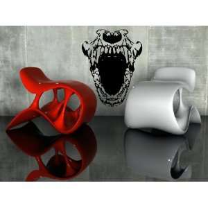 Cool Scary Human Skull the Jaw Design Wall Mural Vinyl
