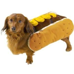 Canine Polyester Hot Diggity Dog Costume, Small, Mustard