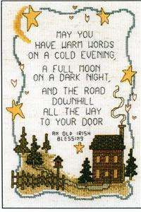 Old Irish Blessing Cross Stitch Leaflet & Fabric