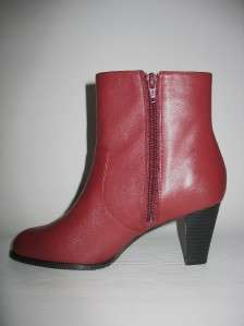 MARKON ILENE WOMENS ANKLE DARK RED SHORT BOOT 6 NIB