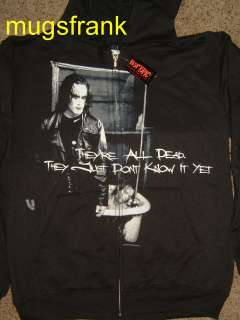 The Crow Movie Theyre All Dead Zip up Hoodie Jacket Shirt