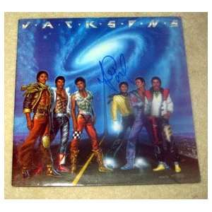 MICHAEL JACKSON autographed VICTORY record