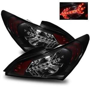 09 11 Hyundai Genesis Black LED Tail Lights: Automotive