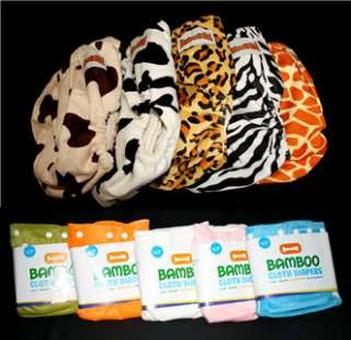 Organic Minky Bamboo Cloth Diaper/Nappy+10 Inserts OS