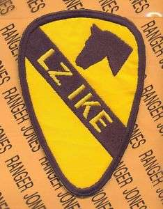 US Army 1st Cavalry Division VIETNAM LZ IKE patch