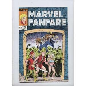 com Marvel Fanfare No. 25 March 1986 , Comic Book (Volume 1) Marvel