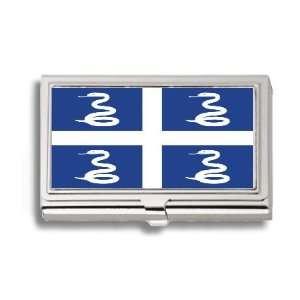 Martinique Martiniquais Flag Business Card Holder Metal