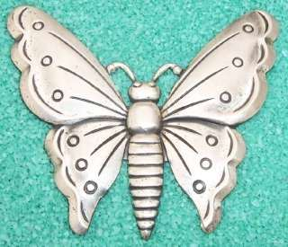 Huge Vintage Coro Sterling Craft Butterfly Brooch Pin