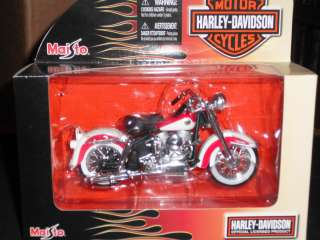 HARLEY DAVIDSON 1/18 DIECAST 1958 FLH DUO GLIDE MOTORCYCLE