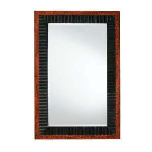 Wall Mirror   Asian Fusion Mirror in Distressed Black with