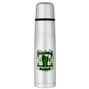 Large Thermos Bottle Shamrock Pub Luck of the Irish 1759 St Patricks