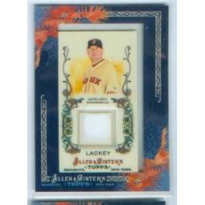 John Lackey 2011 Topps Baseball Allen & Ginters Game Worn Jersey