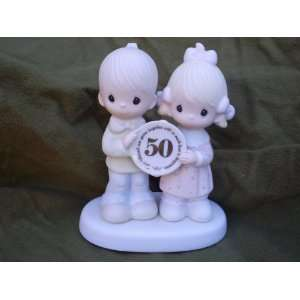 Precious Moments Figurine 50th Anniversary God Bless Our