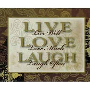 Live Love Laugh Decorative Wall Hanging
