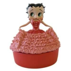 Betty Boop Jewelry Box   Pink Dress Lady