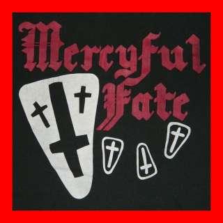 MERCYFUL FATE 80s T SHIRT XL KING DIAMOND BLACK METAL tour concert OG