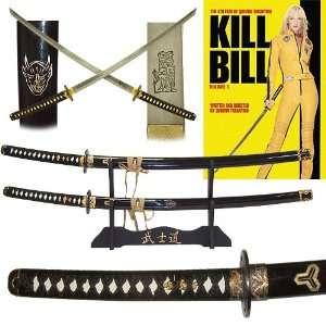 New Trademark KILL BILL Katanas Two Sword Set With Display