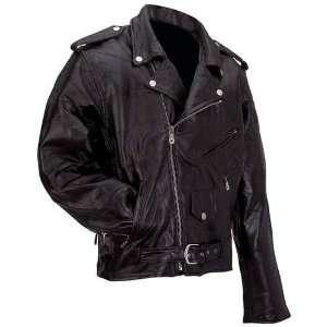 Mens Leather Motorcycle Jacket (Medium): Automotive