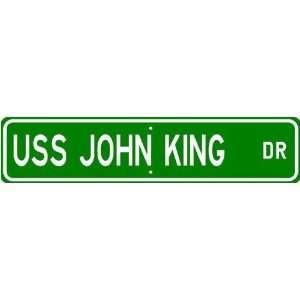 USS JOHN KING DDG 3 Street Sign   Navy