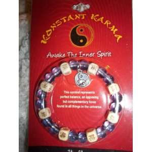 Konstant Karma Yin Yang Stretch Bracelet: Arts, Crafts