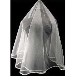 Tanday #7817 White Organza Bridal Wedding Veil   25x36