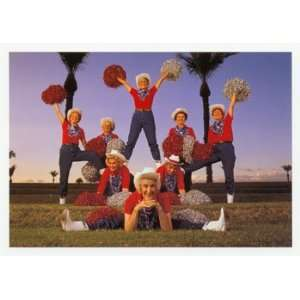 Cheer leaders, Figurative Note Card, 7x5