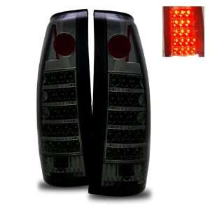 1988 1998 Chevy Full Size LED Tail Lights (Smoke) Automotive