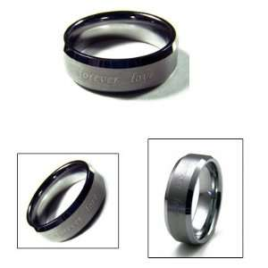 8mm Mens Forever Love Tungsten Carbide Wedding Band Ring Jewelry