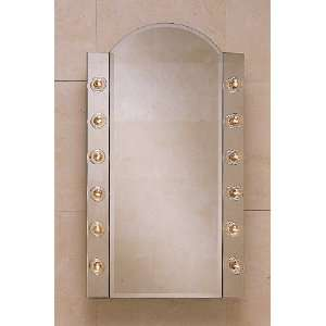 Single Door Mirrored Medicine Cabinet with Arched Top PLM2434BBA: Home