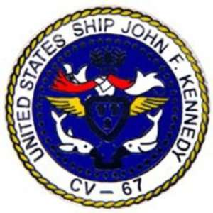 U.S. Navy USS Kennedy CV 67 Emblem Pin 1 Arts, Crafts