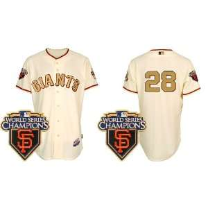 San Francisco Giants 28# Buster Possey Cream Gold 2011 MLB Authentic