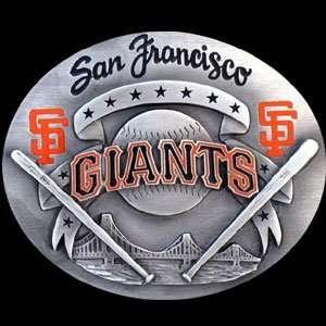 San Francisco Giants Pewter Belt Buckle   MLB Baseball Fan