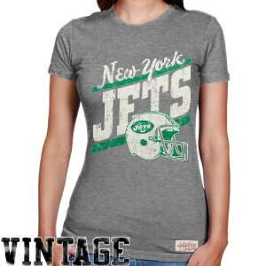 NFL Mitchell & Ness New York Jets Ladies Vintage Graphic Premium T