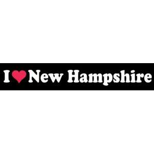 8 I Love Heart New Hampshire State Vinyl Decal Sticker