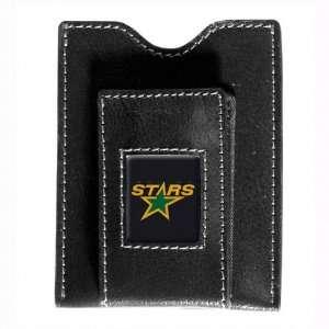 Dallas Stars Black Leather Money Clip & Card Case  Sports