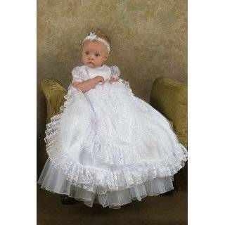 Lucy Heirloom Lace Christening Baptism Blessing Gown.