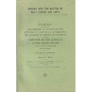 Libya   Vol. III  Appendix (Series No. 96 85) U.S. Government