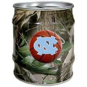 North Carolina Tar Heels UNC NCAA Basketball Realtree Tin Bank