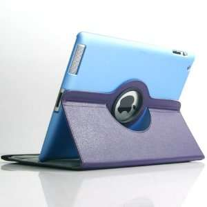 Colors] PU Leather Cover Case Stand can Rotate 360° for Apple iPad