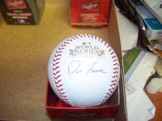 STL Cardinals Signed Rawlings World Series 2011 Baseball COA