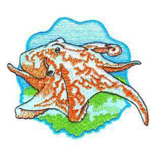 Epic Octopus Octo Ocean Fish Coral Reef Iron on Patch