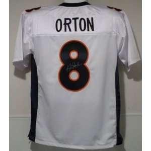 Kyle Orton Autographed/Hand Signed Denver Broncos White Jersey