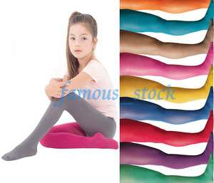 20 Den Kids Child Pantyhose Multi Color Choose Pantyhose Tights Full