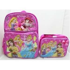 Disney Princess Medium 14 Backpack + Lunch Bag SET   Tangled Rapunzel