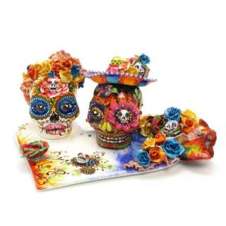 Skull Day of Dead DIY Crafts Project Wedding Cake Topper Keepsake Gift