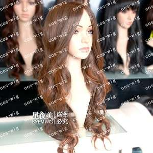 COS WIGS New long Light Brown Fashion Beautiful Wavy wig