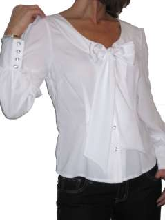 NEW (4984) smart city shirt blouse white 8 18