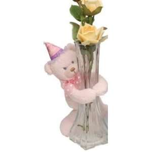 Lil Babys First Birthday 7.5 Inch Standing Pink Teddy Bear By First