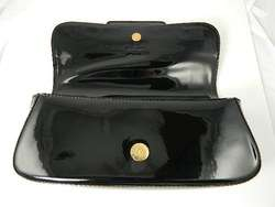 LOUIS VUITTON SOBE CLUTCH GOLD BLACK PATENT LEATHER WOW!
