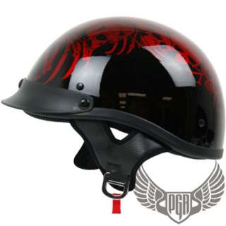 Carbon Fiber Motorcycle DOT APPROVED Half Helmet Harley Chopper Custom